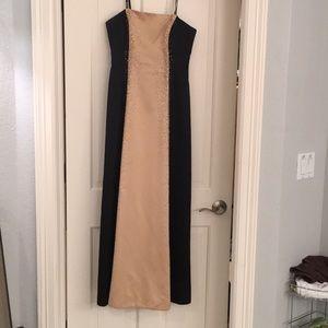 Gold & Black long formal dress